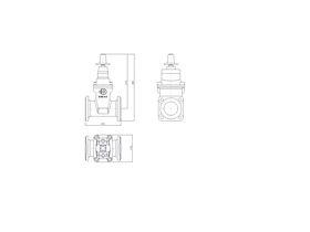 Line Drawing - 80 DIMAX FL PN16 RS GATE VALVE B5