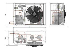 Tecumseh Compac Condensing Unit R404A PAC4517Z 3 Phase