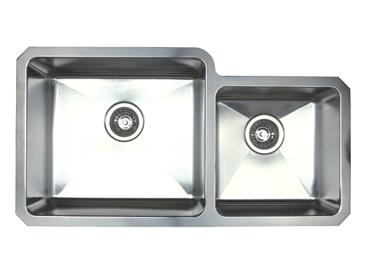 AFA Cubeline 1 3/4 Bowl Undermount Sink No Taphole 854mm Stainless Steel