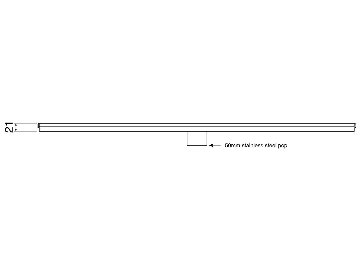 Veitch RX65 Shower Channel 1200mm (Swan)