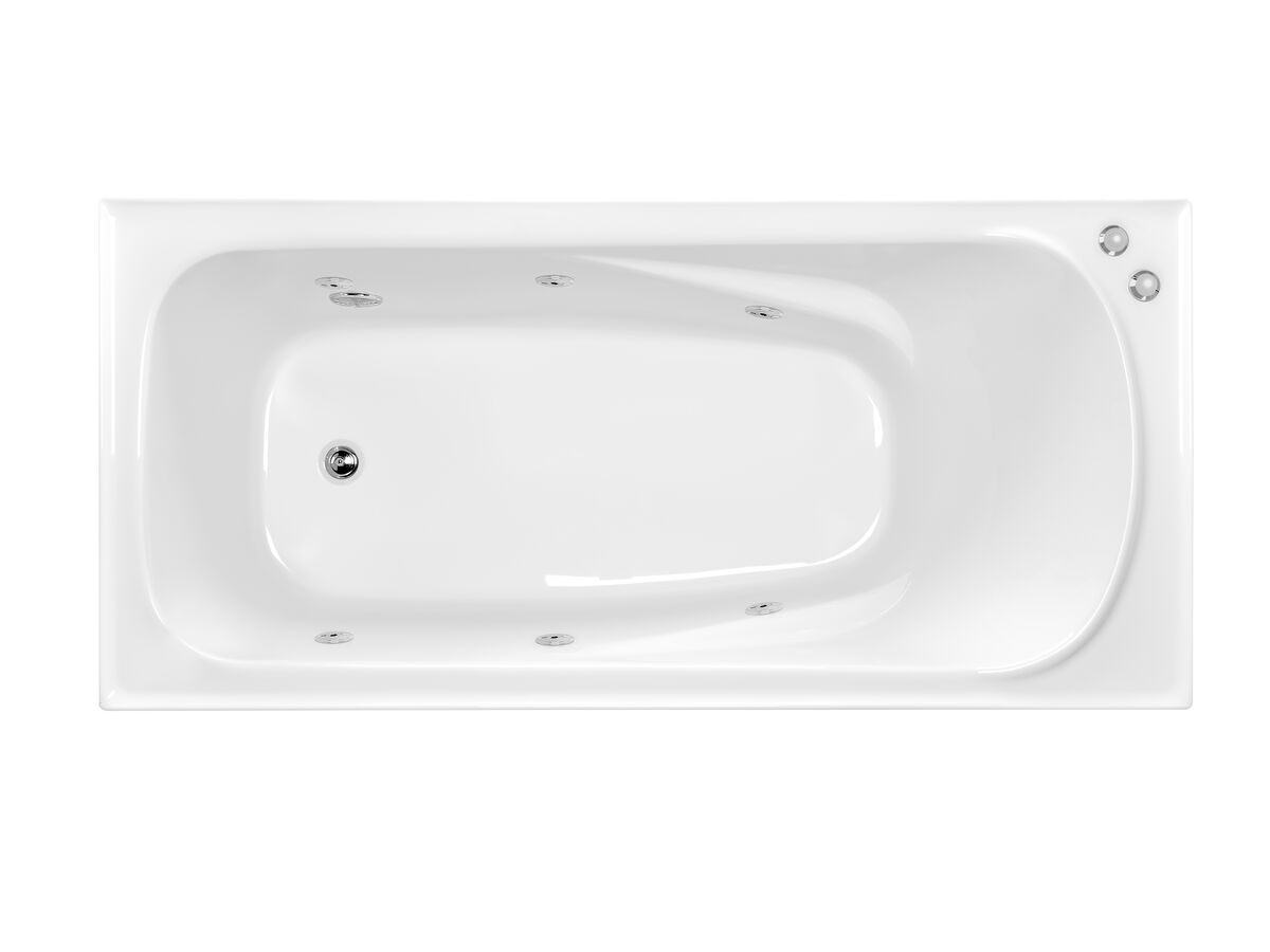 POSH Solus MKII Rectangle Spa with 6 Chrome Jets and Auto Heat Pump Spa 1520 White