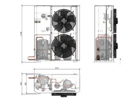 Tecumseh Compac Condensing Unit R404A PAC4573Z 3 Phase