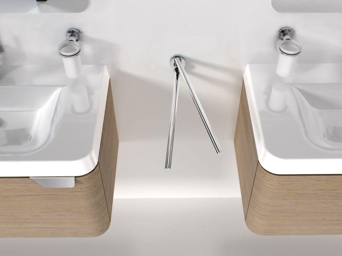 Sonia Tecno Double Towel Rail Swivel 434mm Chrome