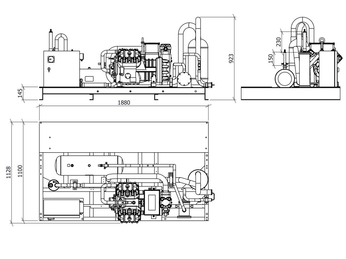 Tecumseh Semi Hermetic Receiver Unit SHR4632ZHR