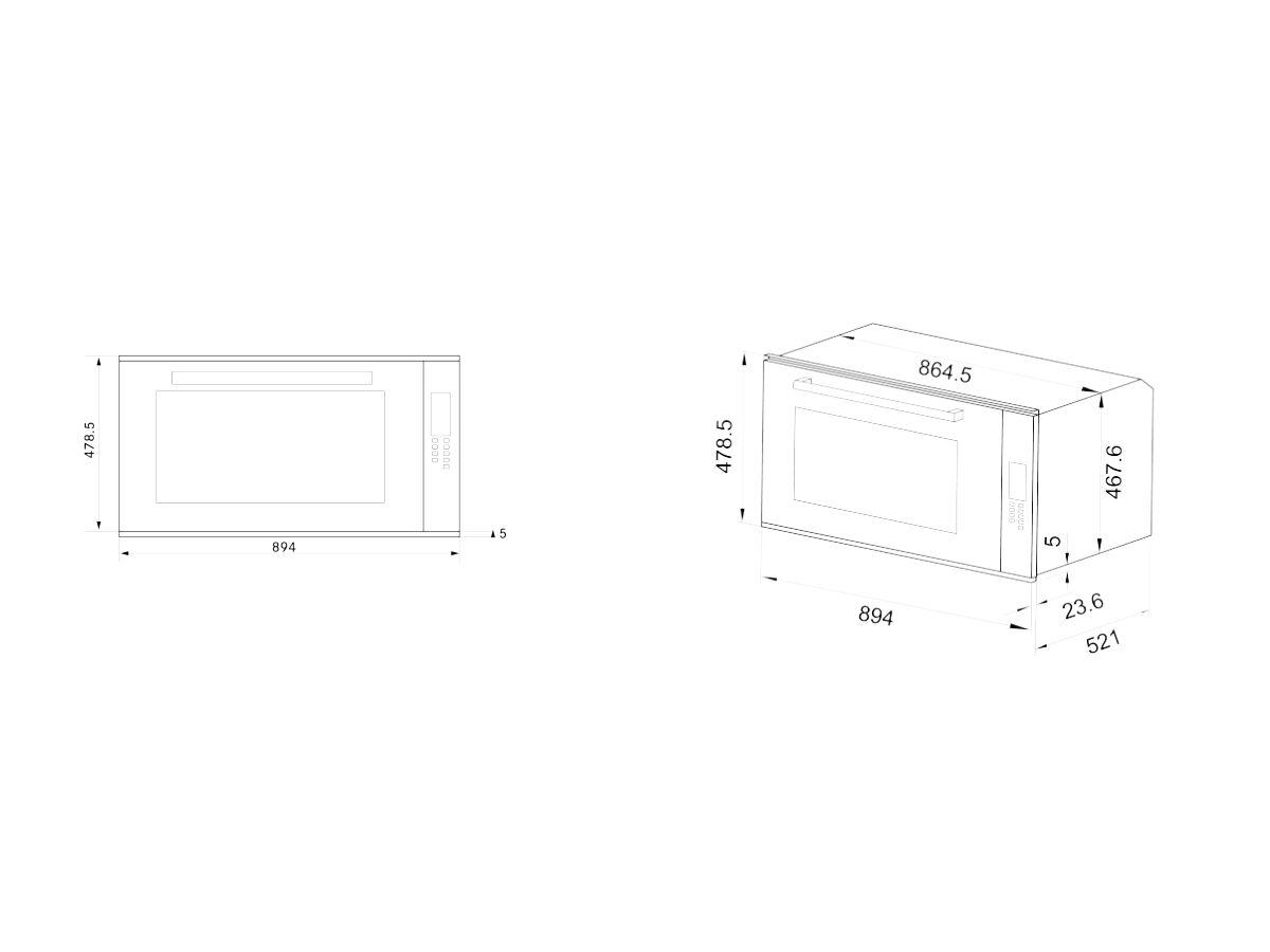 Franke Designer Oven 10 Function 90cm Black