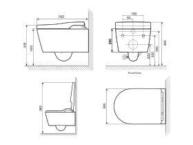 Roca In-Wash Inspira Smart Toilet Rimless Wall Hung Pan (4 Star)