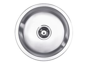 Posh Solus Round Sink No Taphole 430mm Stainless Steel