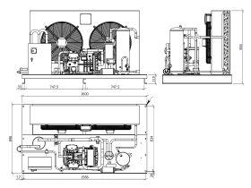 Tecumseh Semi Hermetic EVO Condensing Unit SHT4591ZHR 3 Phase