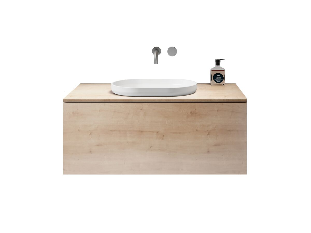 Venice 1000mm Wall Hung Vanity Unit Timber with Timber Top