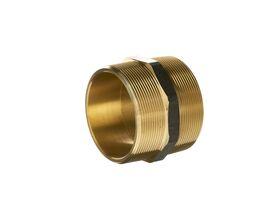 Nipple Hex Brass 80mm