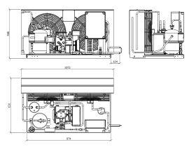 Tecumseh Semi Hermetic EVO Condensing Unit SHT4521ZHR-TZ 3 Phase