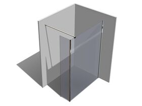 Kado Lux Fixed Shower Screen Panel with Side Panel and Wall Support 1400mm Chrome
