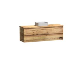 Kado Arc Timber Twin Drawer 1500 Single Bowl Vanity Timber 32mm Top