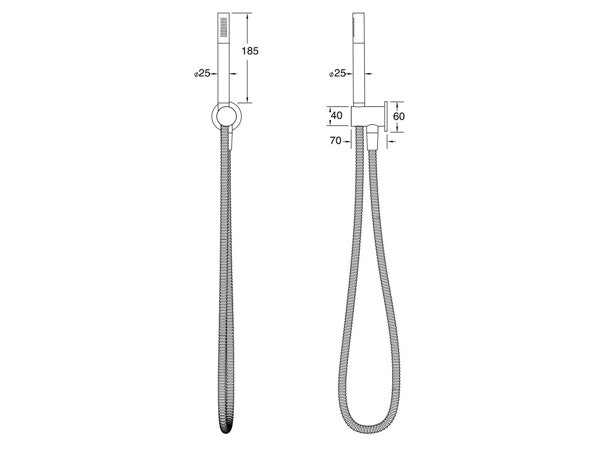 Milli Pure Microphone Hand Shower with Fixed Bracket (3 Star)