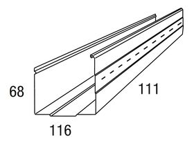 Stramit Compact Gutter Slotted