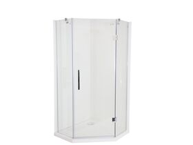 Kado Lux Shower System Angled 1000mm x 1000mm Rear Outlet Chrome