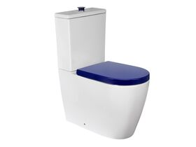 Wolfen Ambulant Close Coupled Back To Wall Toilet Suite Single Flap Seat Blue (4 Star)