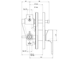 Roca L20 Shower Mixer with Diverter Chrome