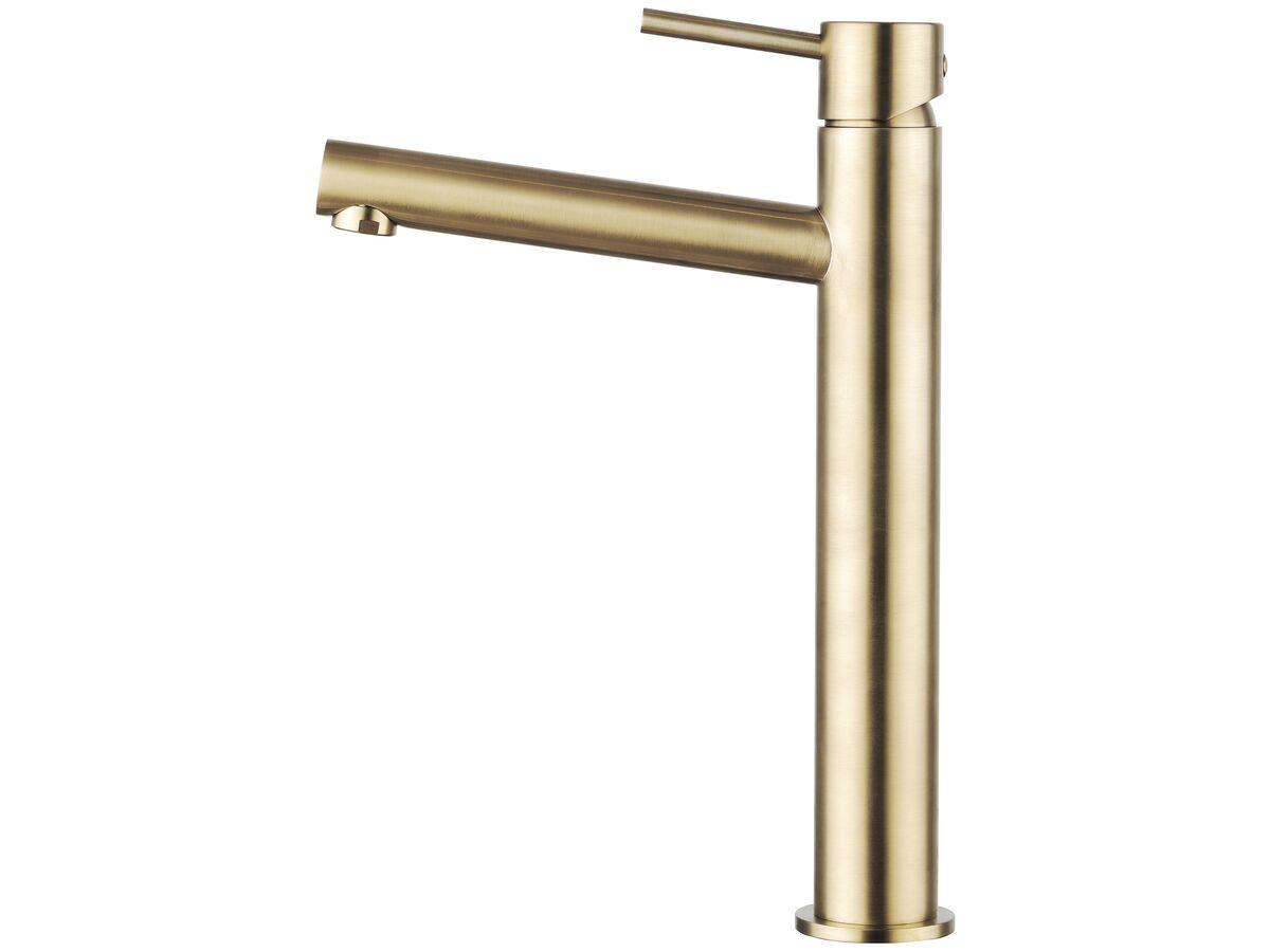 Mizu Drift MK2 Extended Basin Mixer Tap Brushed Gold (5 Star)