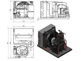 Tecumseh Condensing Unit 1/3HP R134A MHBP AET4440YHR