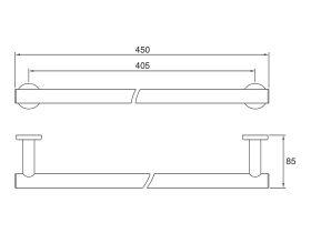 Mizu Drift Towel Rail 450mm Chrome