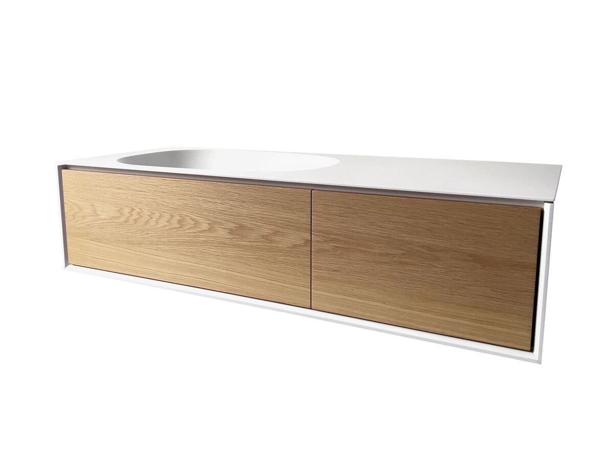 Issy Glide Wall Hung Single Bowl 2 Drawer