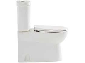 American Standard Studio Close Coupled Back to Wall Toilet Suite with Soft Close Quick Release White / Chrome