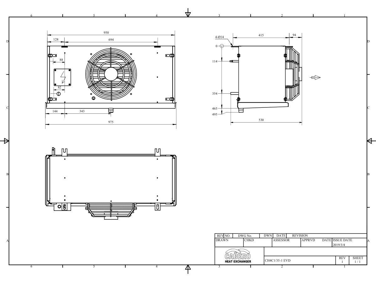 Cabero Pro Medium Temperature CH4C1-35-1 with EVD Ice