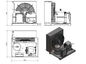 Tecumseh Condensing Unit R404A CAJT4519ZHR-FZ-S 1 1/2 HP