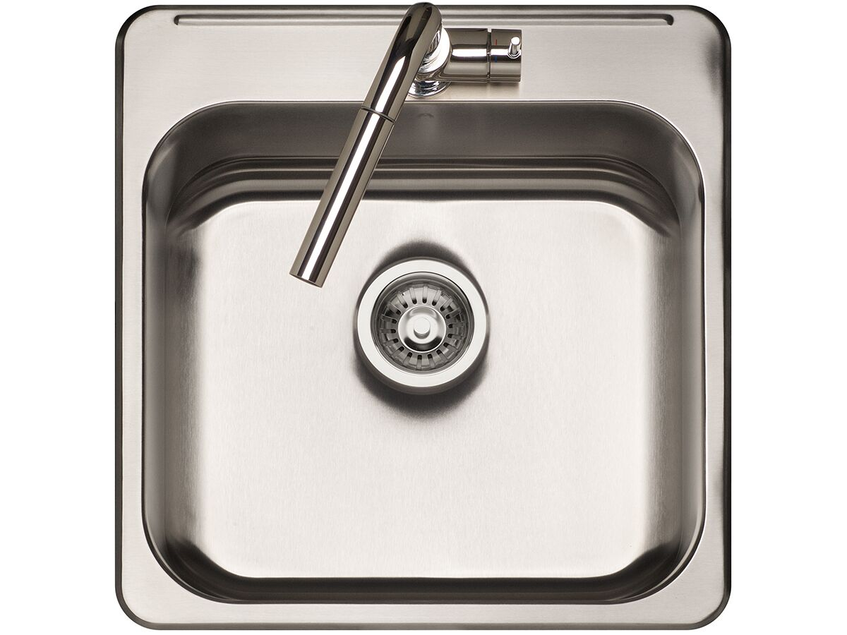 AFA Infinity Outdoor Inset Square Sink 1 Taphole 510mm Stainless Steel