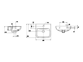 Wolfen Wall Basin with Overflow 1 Taphole 400 x 365