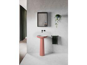 Venice 450 Basin and Pedestal Solid Surface Softskin Blush