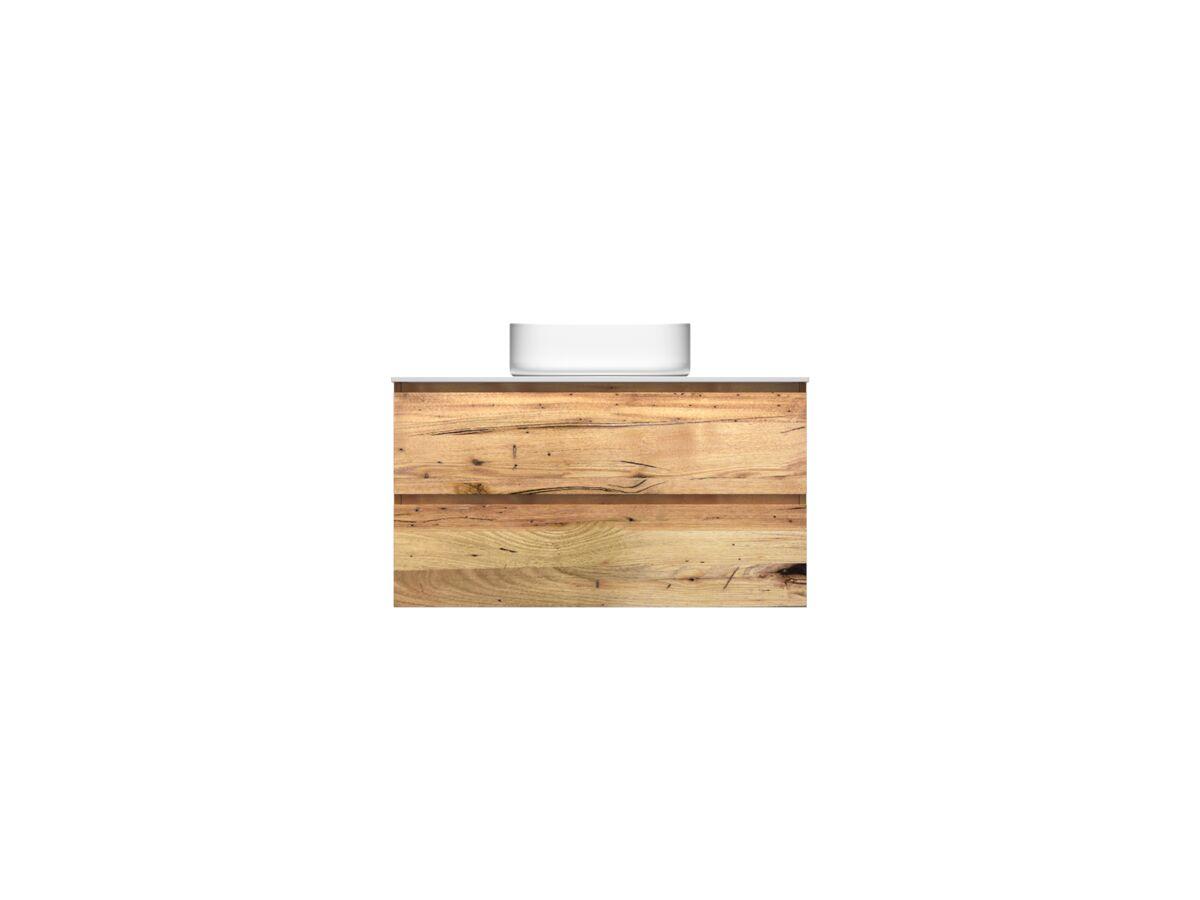 Kado Arc Timber Twin Drawer 900 Vanity Corian 12mm Top