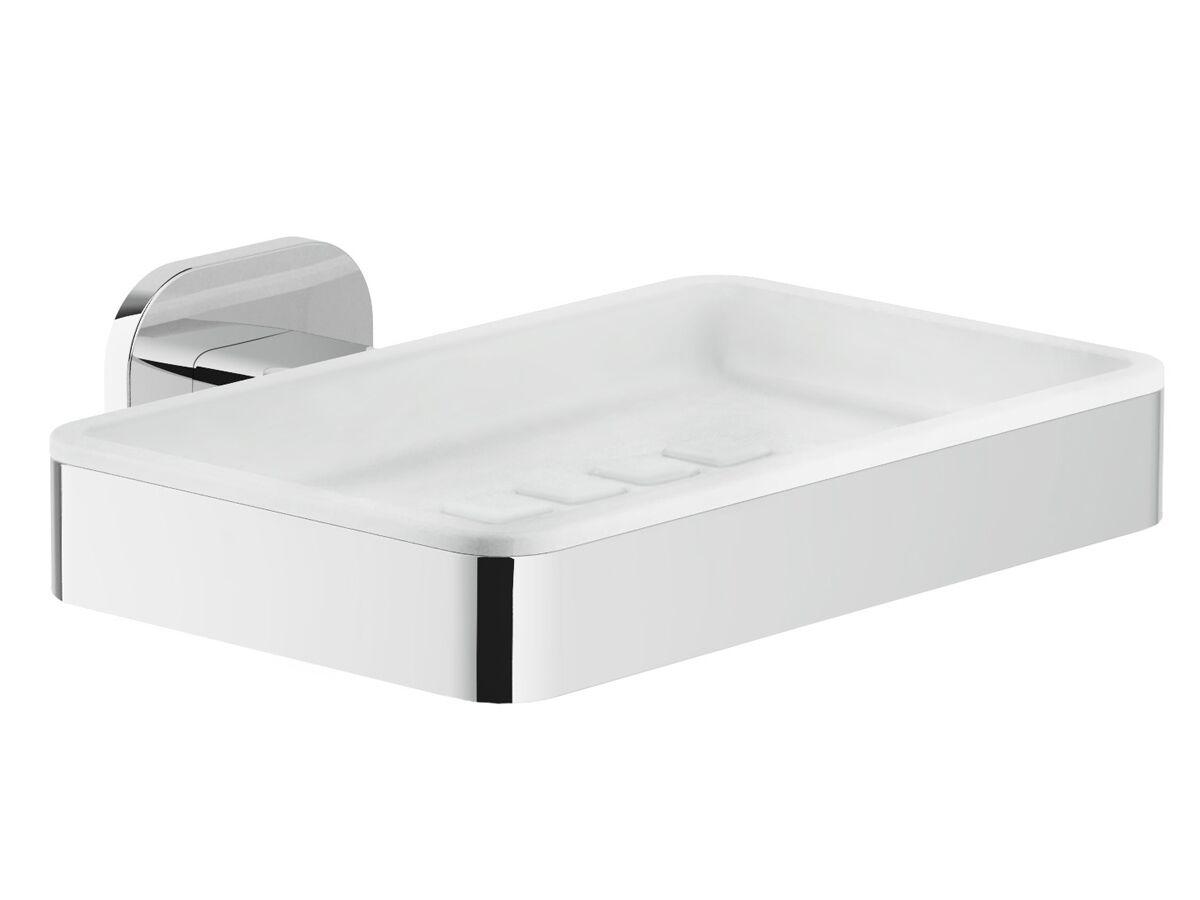 Teknobili Loop Wall Mount Soap Dish Chrome