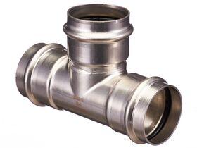 >B< Press Stainless Steel Equal Tee 54mm