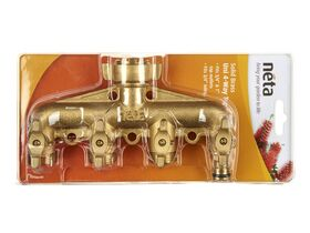 Neta Brass 4 Way Tap Outlet - 1 Click On