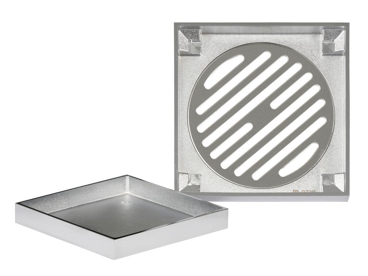 Mizu Drift Tile Insert Waste 100mm Chrome