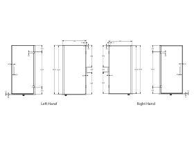 Posh Domaine MKII Semi Frameless Hinged Shower Screen 1000x1000x2000