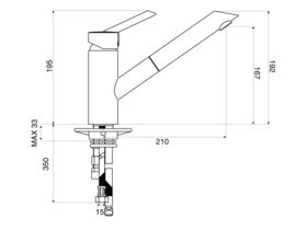 Nobili Oz T2 Pull Out Sink Mixer Inox (4 Star)