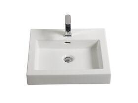 Kado Lux Above Counter Basin 1 Taphole White