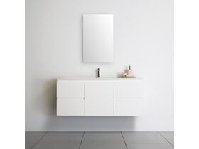 ADP Essence MKII Vanity Unit Centre Wall Hung 1 Door 4 Draws No Basin 1200