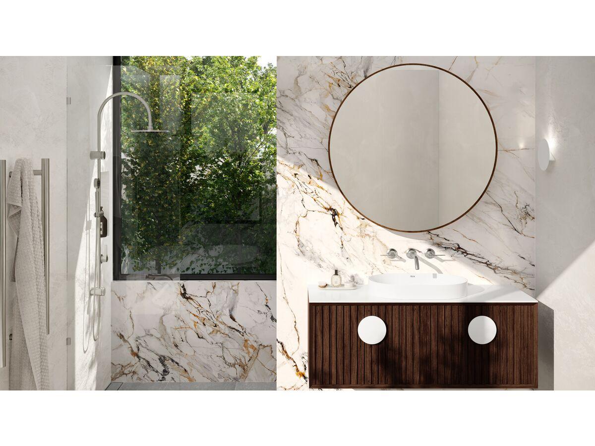 Milli Oria Bathroom Setting PVD Brushed Nickel