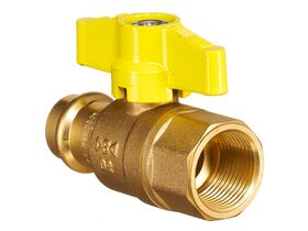 QT Lever Ball Valve Gas Copper DN20 x Female BSP 3/4""""