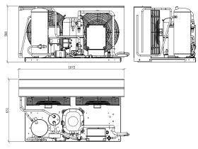 Tecumseh EVO Condensing Unit 6hp R404 MHBP EPCH4568Z-3 Phase