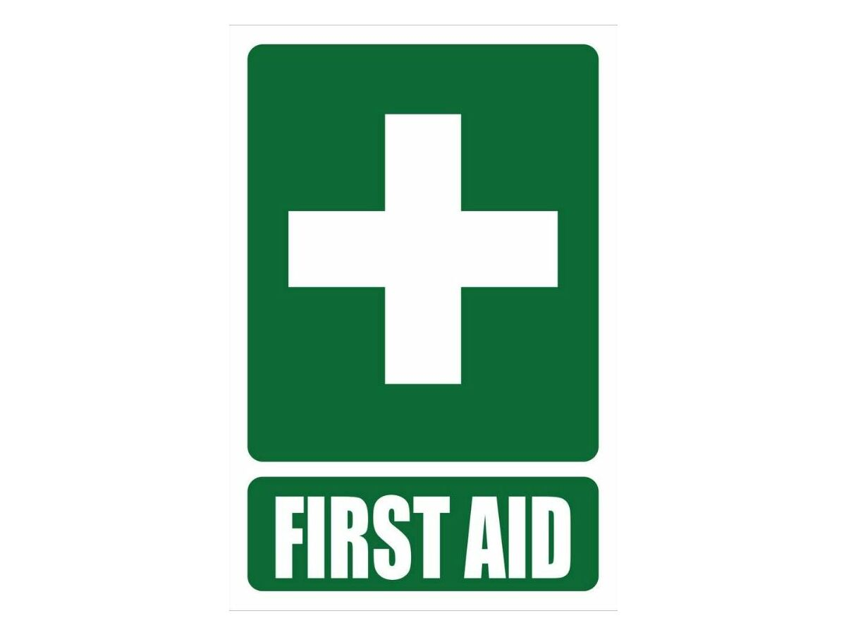 First Aid 100mm x 100mm - Sticker