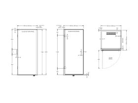 Posh Domaine MKII 900x900 SF Right Hand Entry Base & Screen Shower System