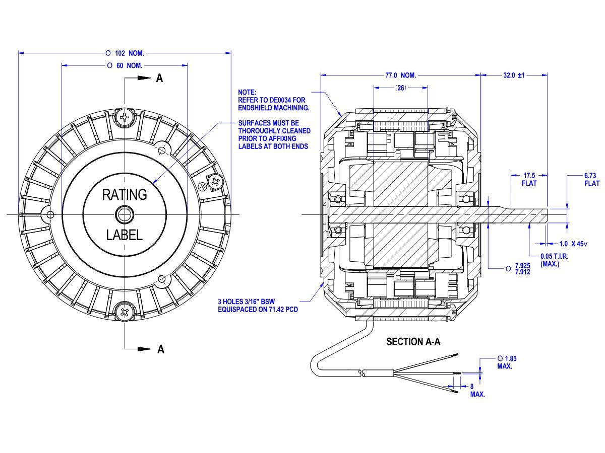 50D509-22A Fan Motor 415V 40W