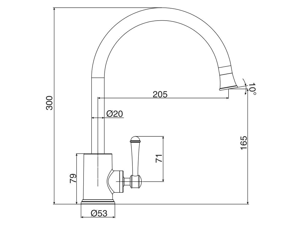 Posh Canterbury Sink Mixer Tap Lever (4 Star)