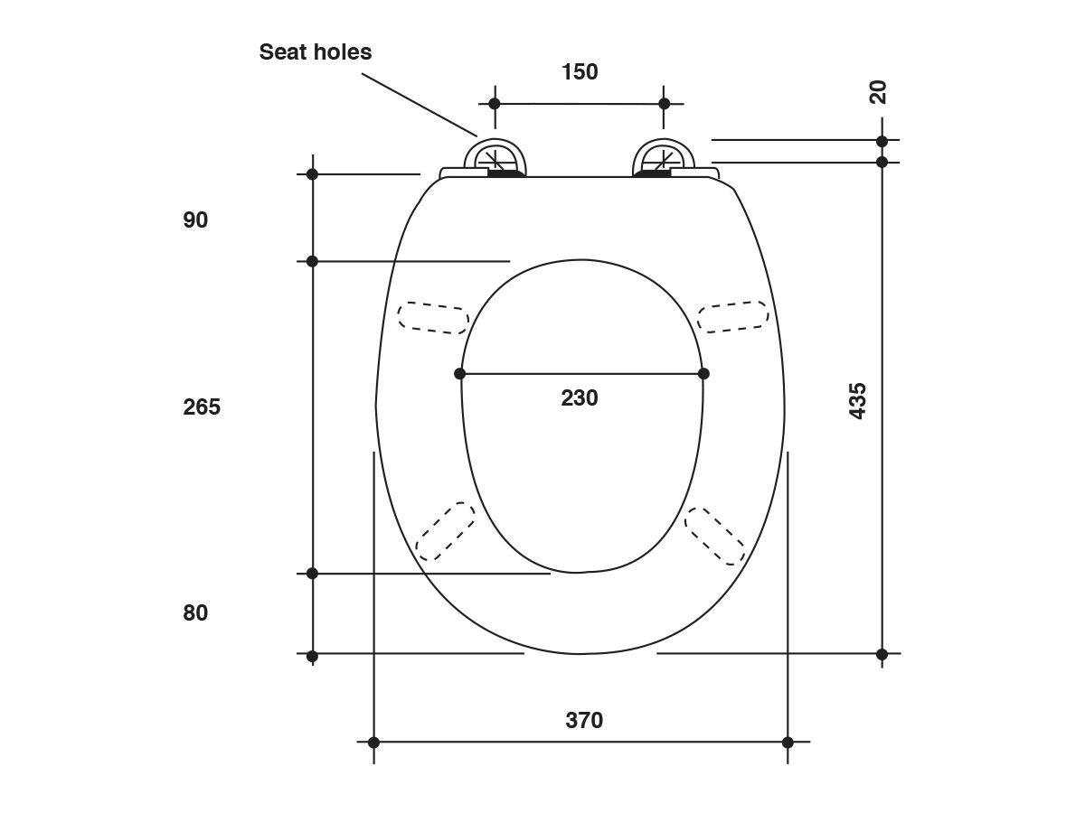 Posh Timber Standard Toilet Seat Oak Cherry