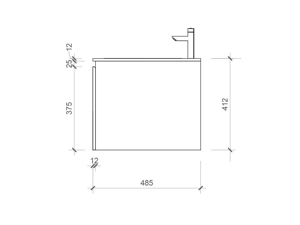 Cibo Habitat Double Wall Hung Vanity 2 Door 2 Drawer 1500mm